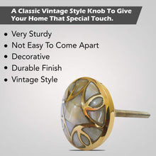 Carica l'immagine nel visualizzatore di Gallery, mother of pearl drawer knob description
