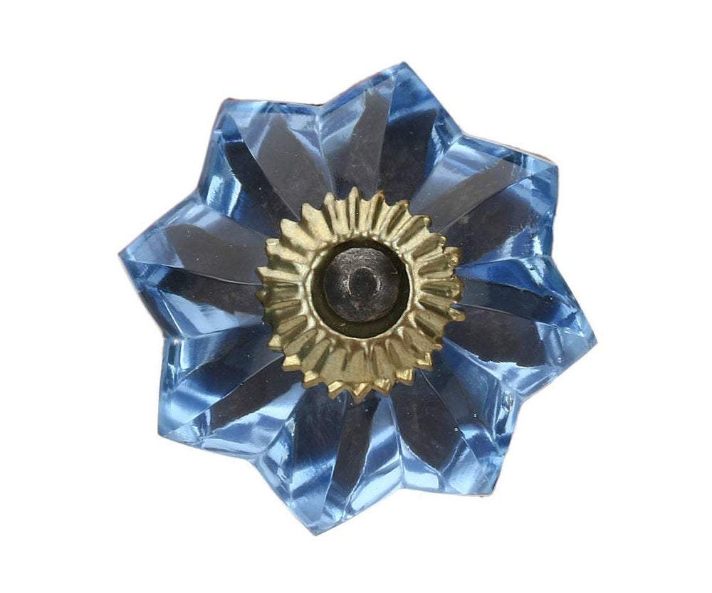 CItrouille glass drawer knob in antique fitting