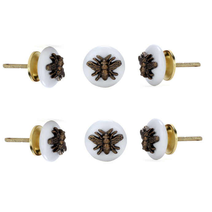 Insect Ceramic Knob (Set Of 6) - Perilla Home