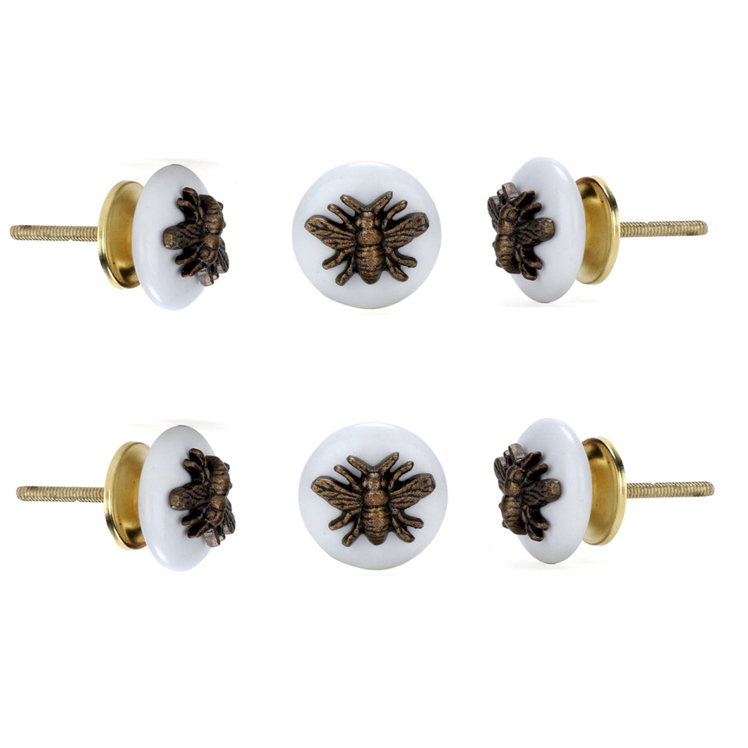 Insect Ceramic Knob (Set Of 6)