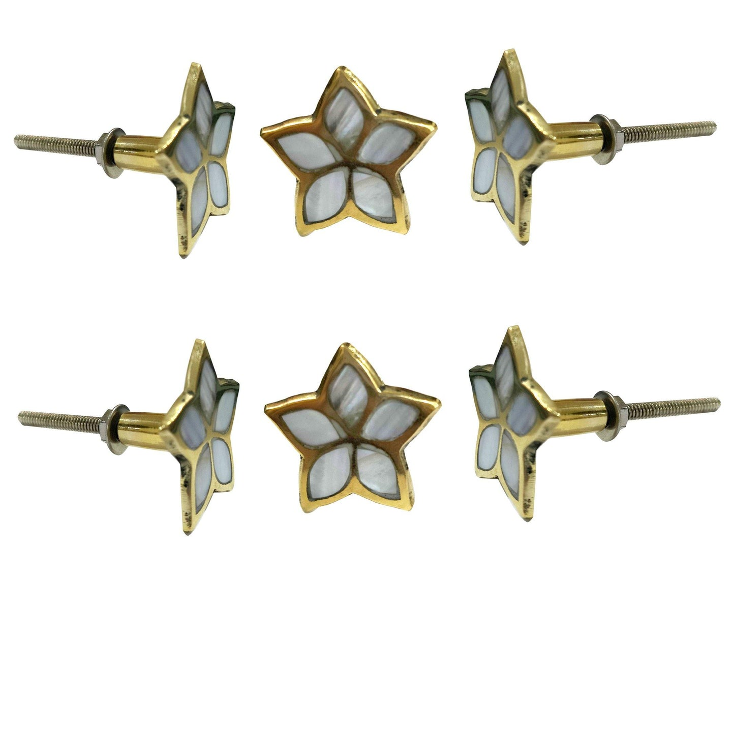 Set of 6 Jiya Mother of Pearl Knob - Perilla Home