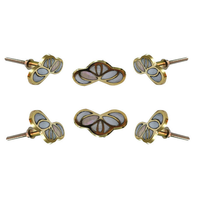 Set of 6 Kate Mother of Pearl knob - Perilla Home