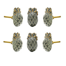 Carregar imagem no visualizador da galeria, Pineapple Ceramic Knob (Set Of 6) - Perilla Home