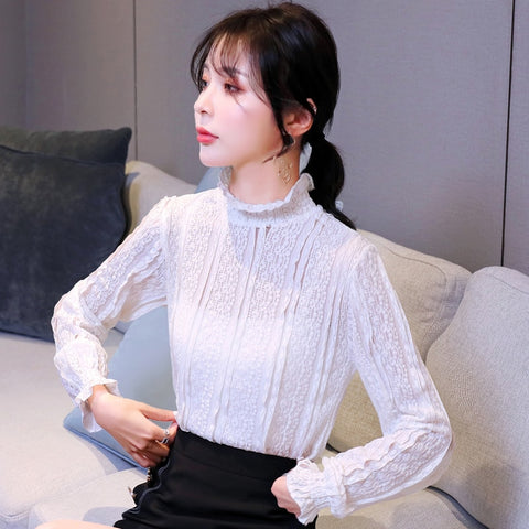 COIGARSAM Fashion Lace blouse 2019 (Women)