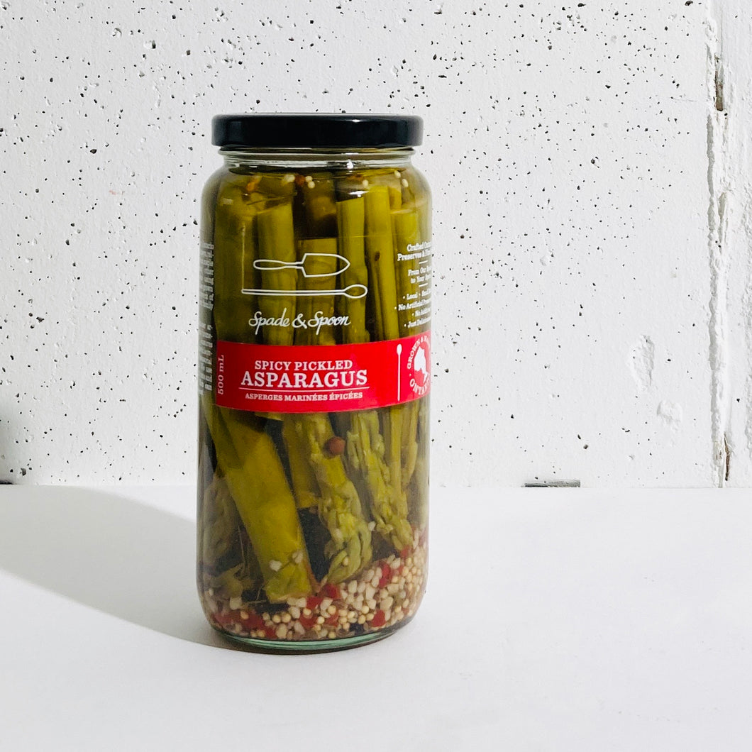 Spade and Spoon - Spicy Pickled Asparagus