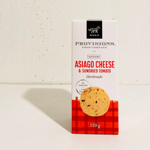 Provisions Food Company - Asiago Cheese & Sundried Tomato Shortbread