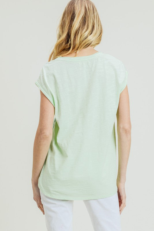 Seafoam Cap Sleeve Top