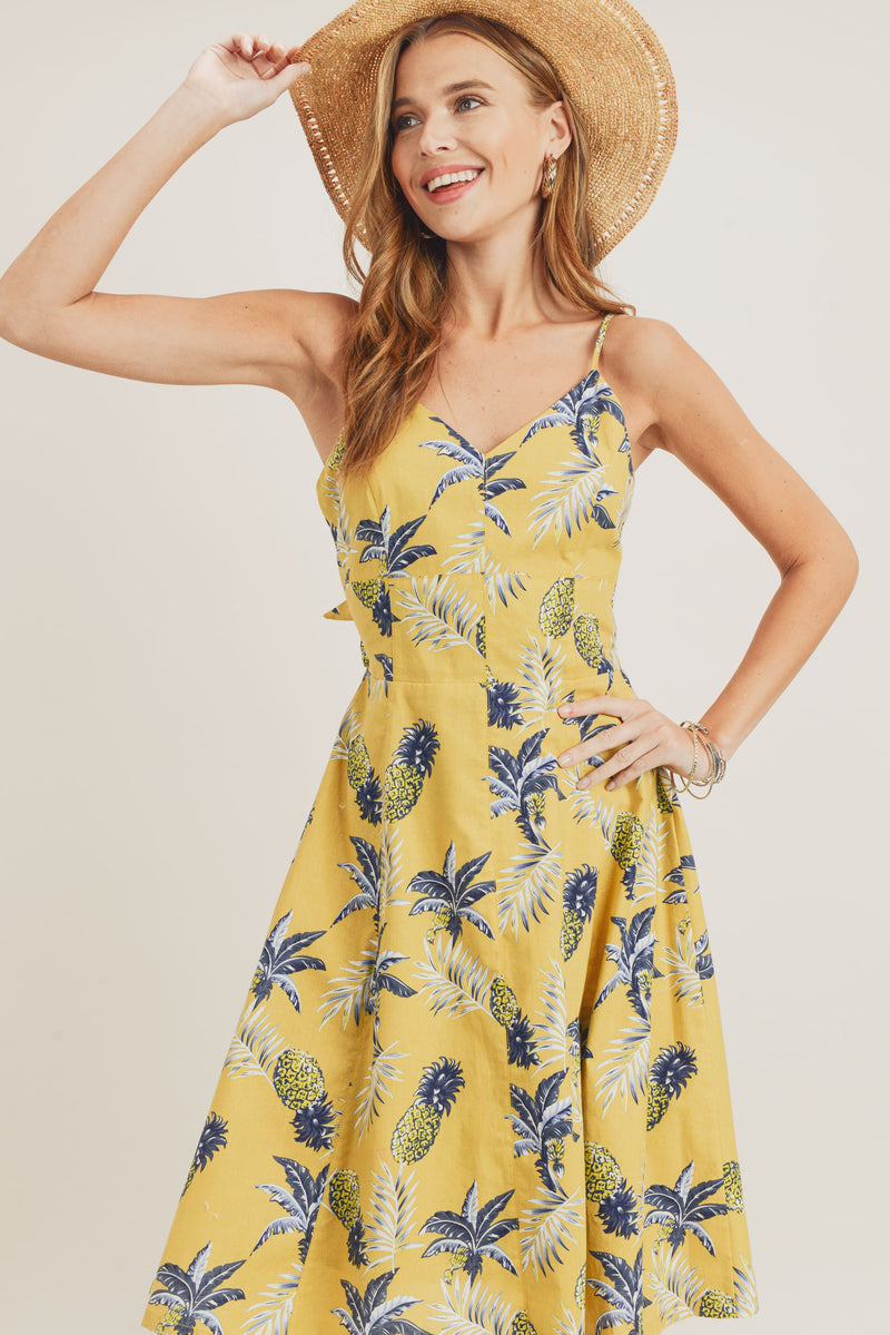 Bow Tie Back Midi Dress
