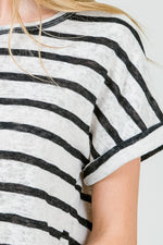 Navy Stripe Everyday Tee