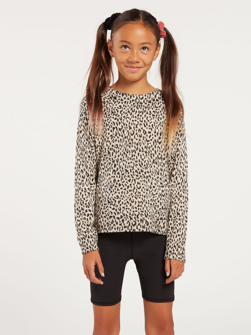Over N Out Girls Leopard Sweater