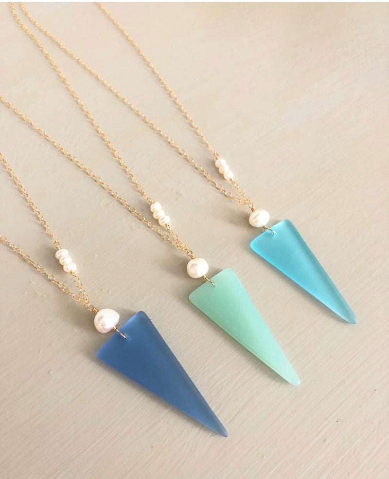 Seaglass Shield Necklace