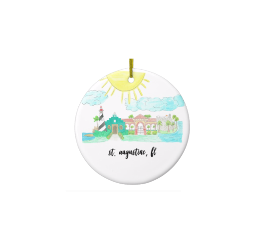 St. Augustine ceramic ornament