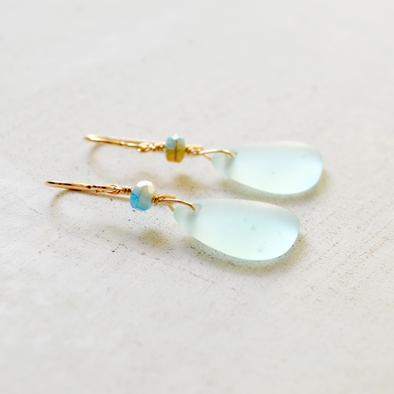 Sea Foam Drop Earrings