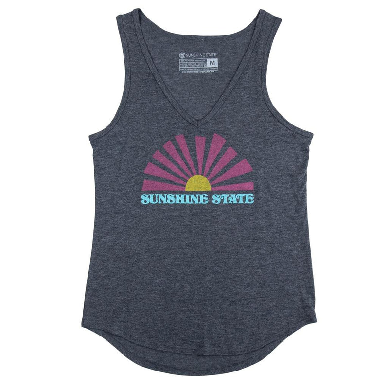 V-neck Tank Dark Grey