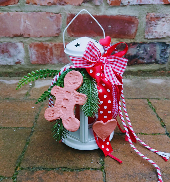 Christmas lantern decoration gingerbread man.