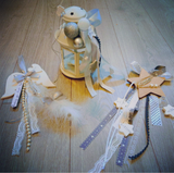 Handmade,clay angel wings,wall hanging deco.