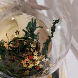 Handmade Christmas bauble ornament gold star.