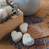 Wax melts soy highly scented wax melts, warmer set wooden box, lavender vanilla.