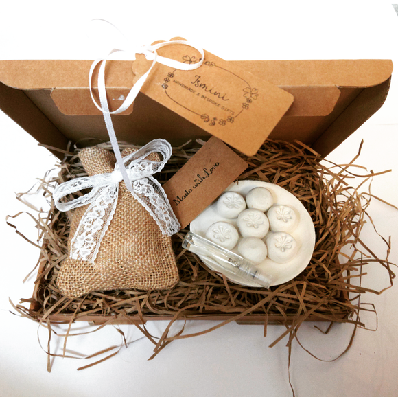 Gift set gift box air dry clay beads, essential oils, diffusers, aromatherapy