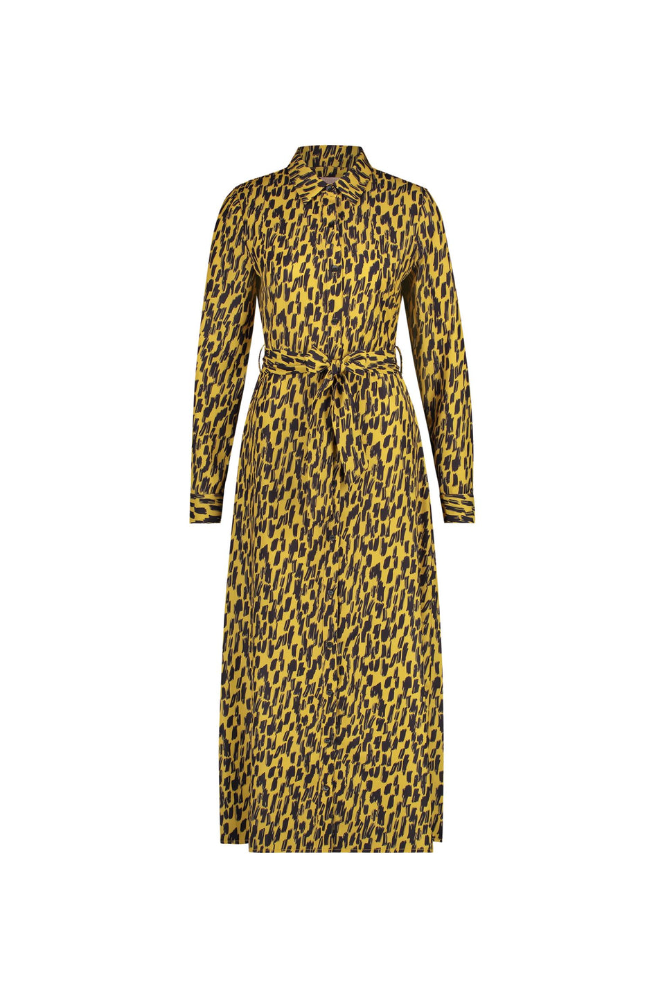 Dani Dress - Yellow Animal Print
