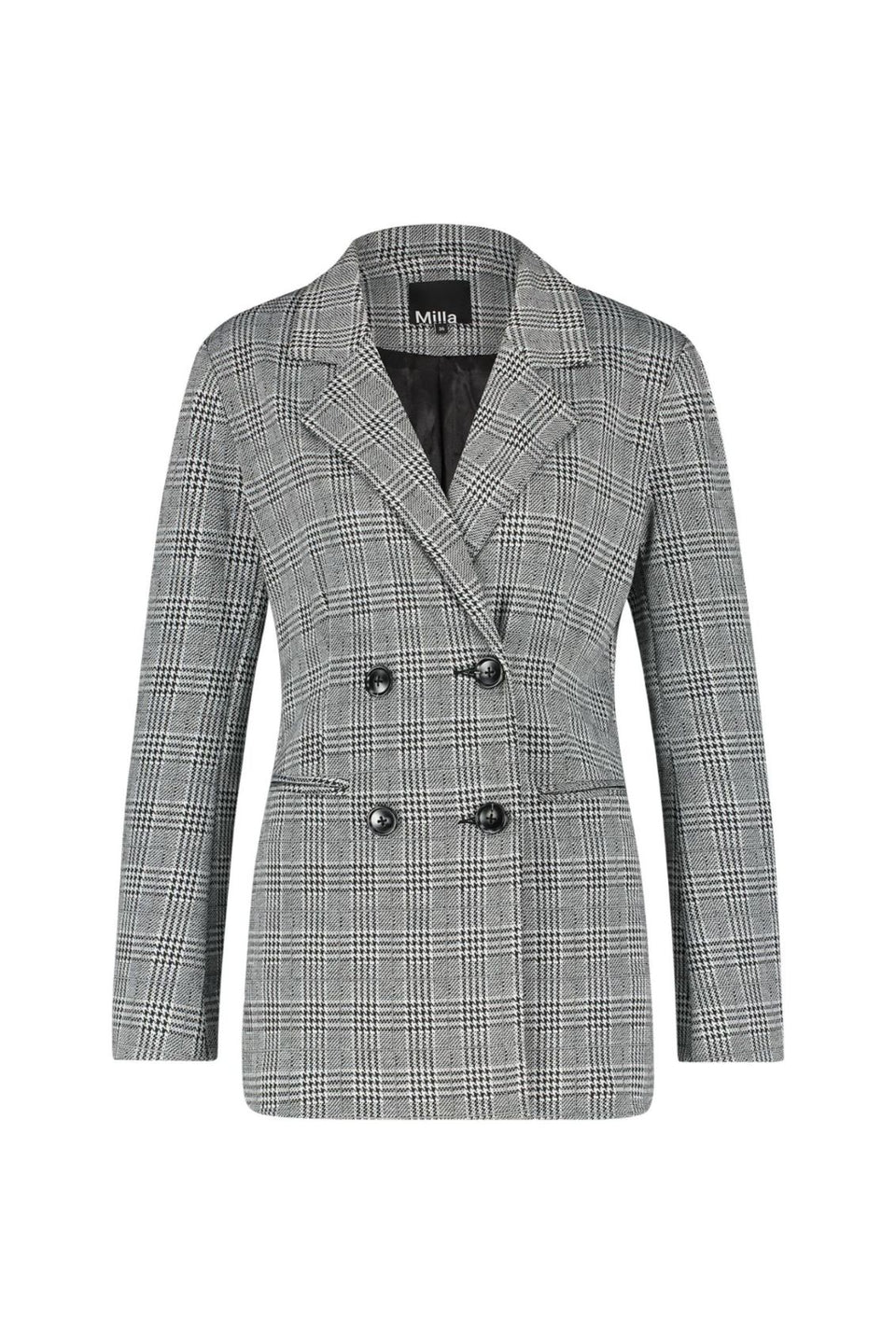 Joline Blazer - Black White Check