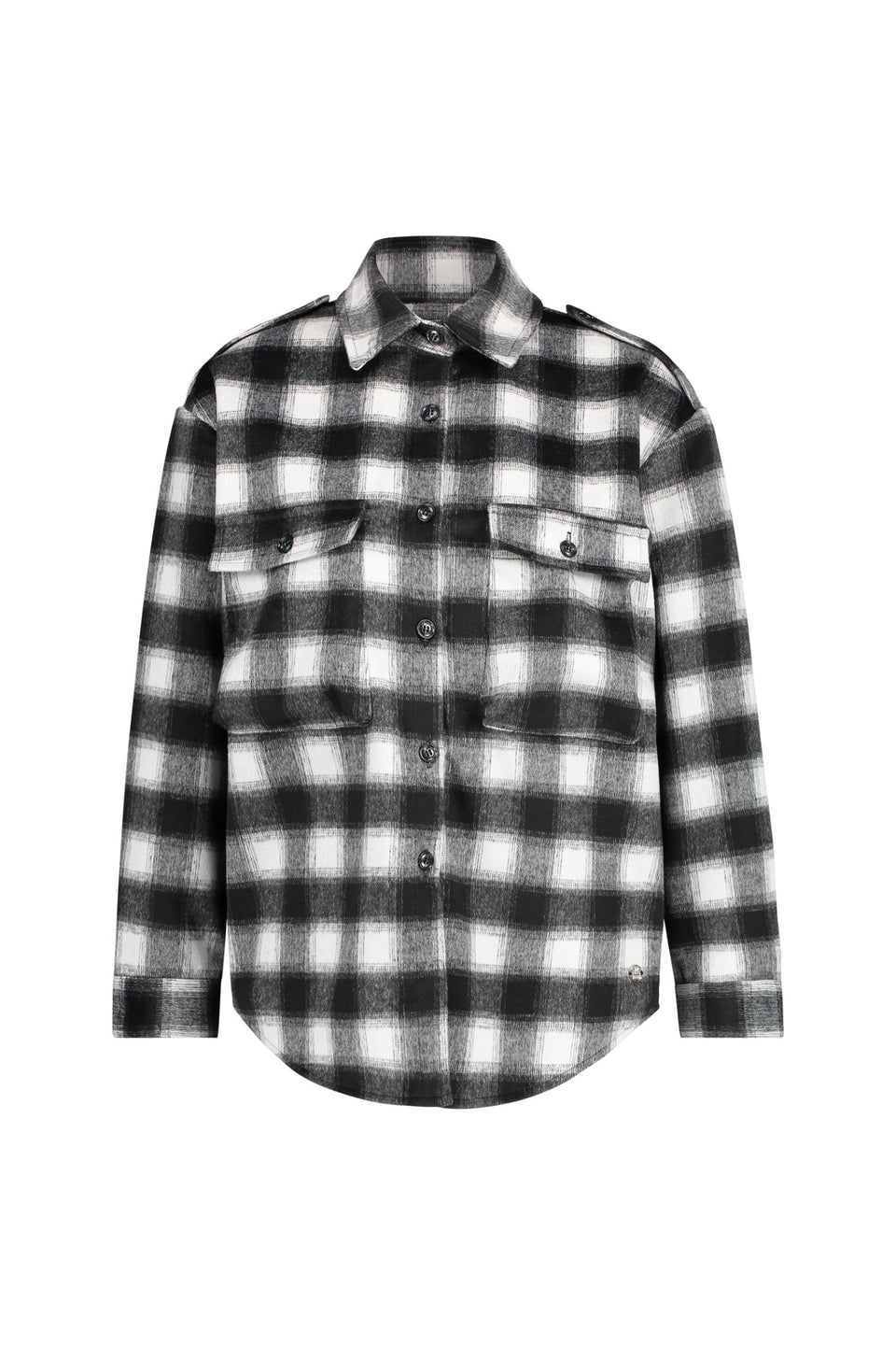 June Jacket - Cream Black Checks