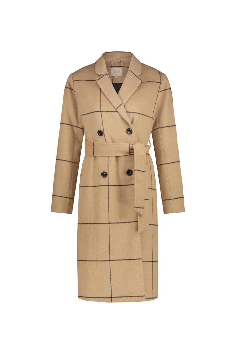 Marie Coat - Camel Checks