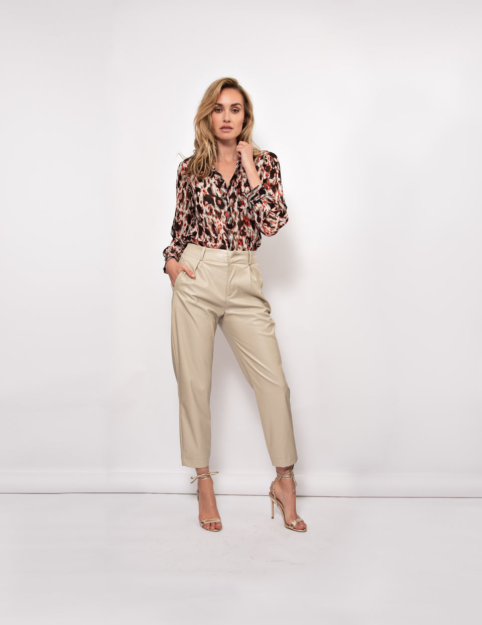 Becca Blouse - Animal Print