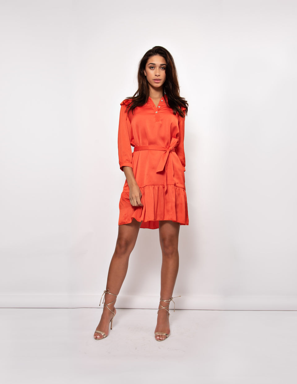Dakota Dress - Spicy Orange