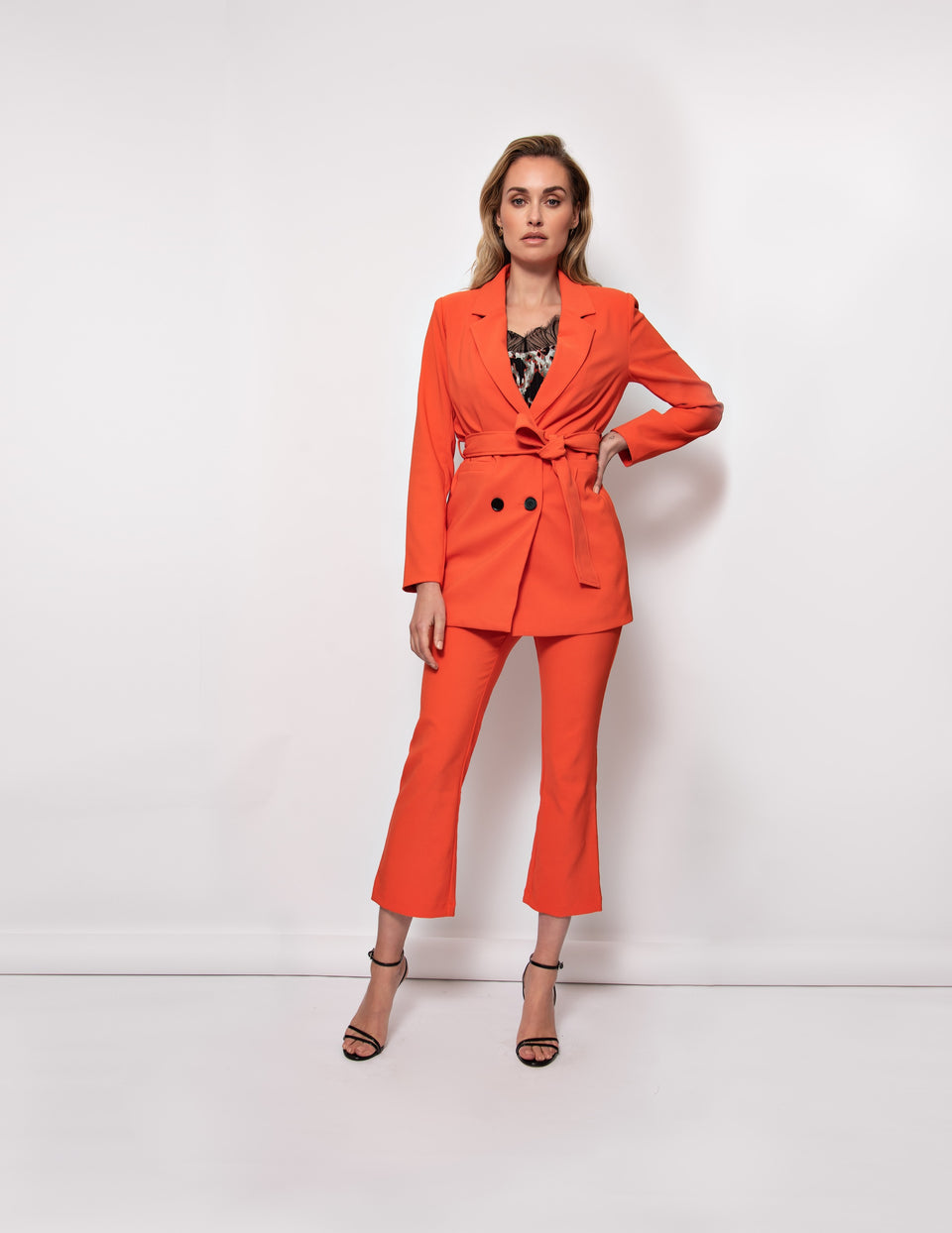 Phoebe Pants - Spicy Orange
