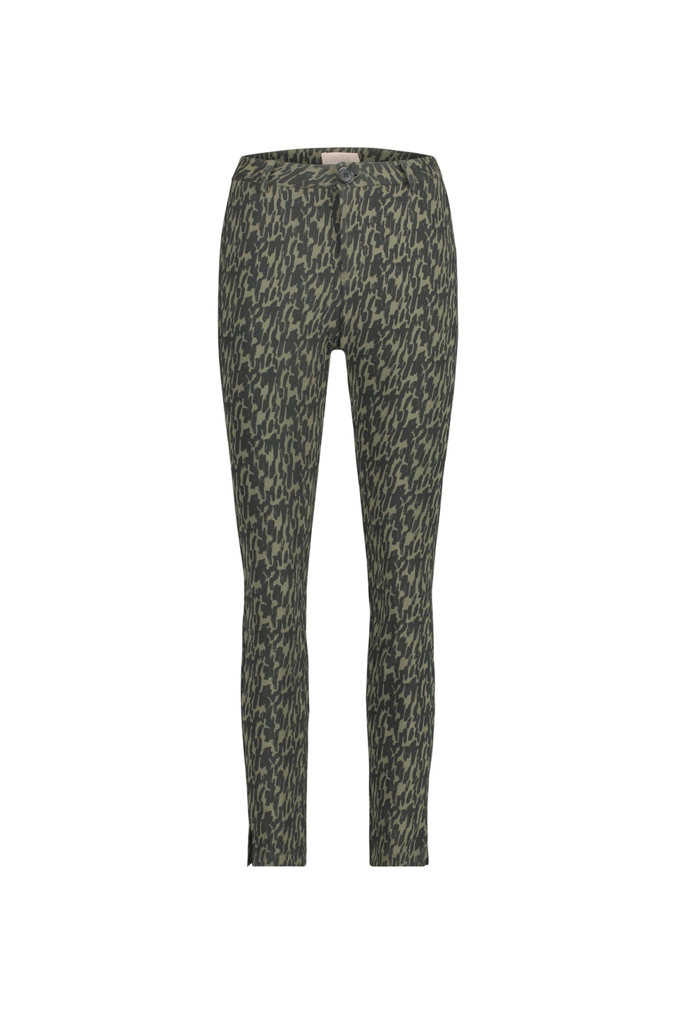 Paris Pants - Army Green Aop