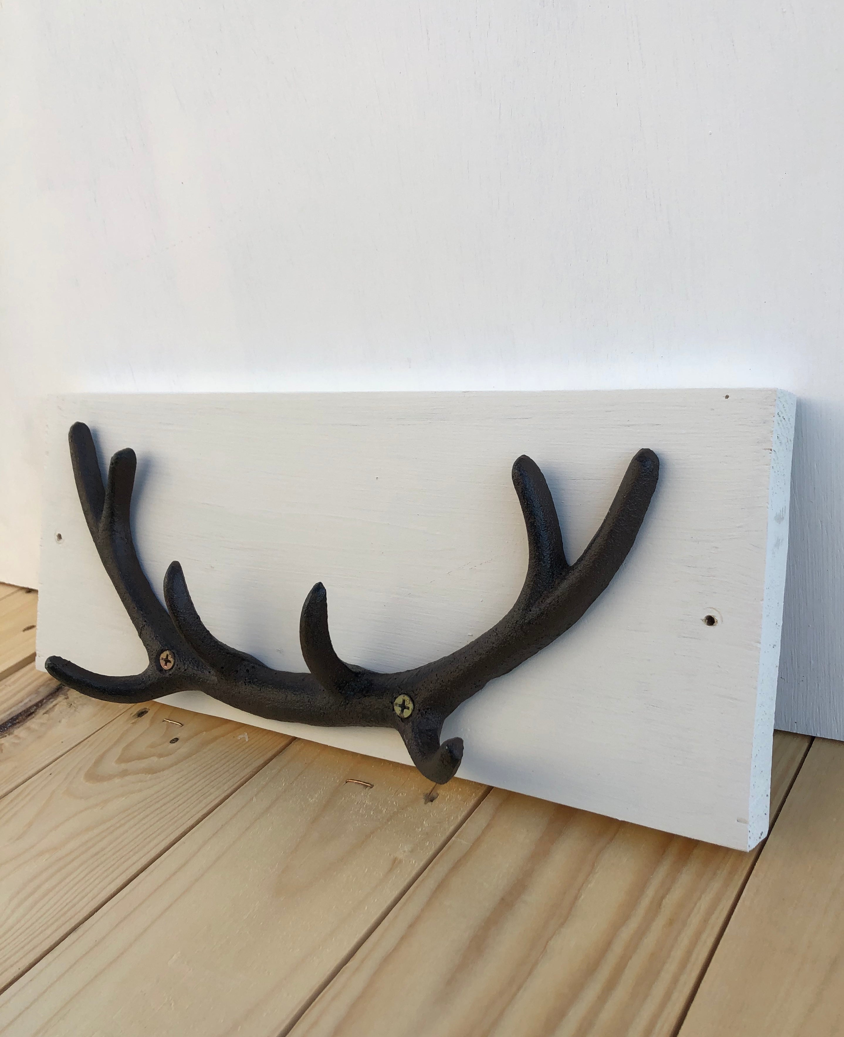 Cast Iron Mounted Stag Antler Coat Hook