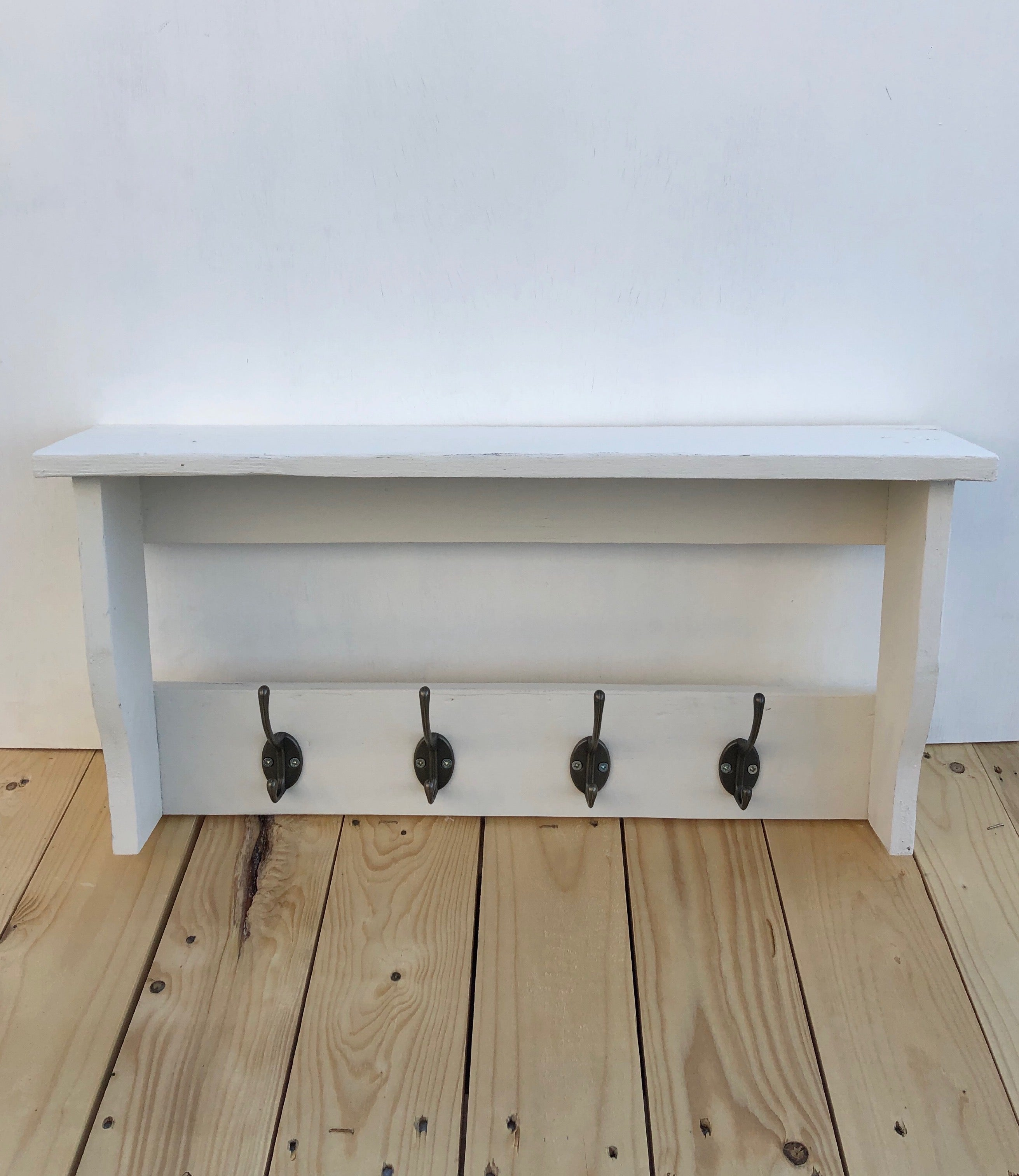 Wooden Shelf & Hook Style Unit