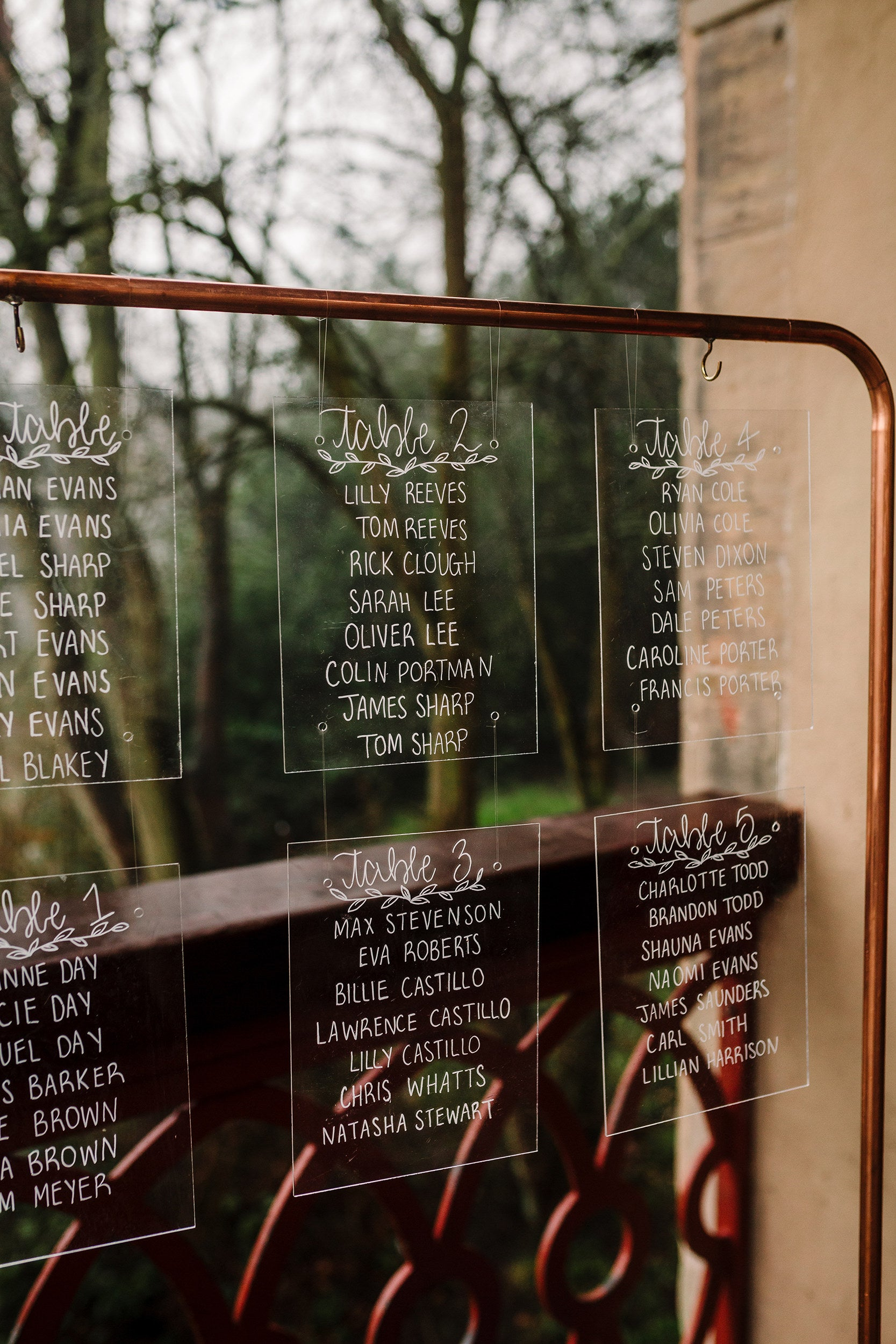 Individual Perspex Acrylic Wedding Seating / Table Plan