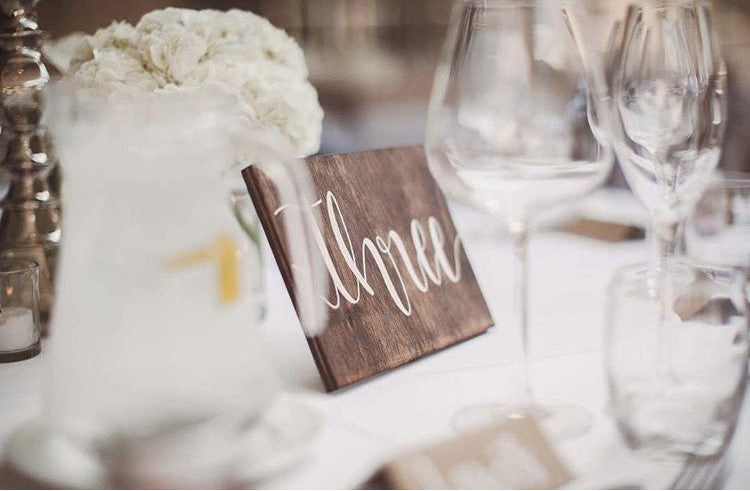 Rustic Wooden Table Name / Number Wedding Sign