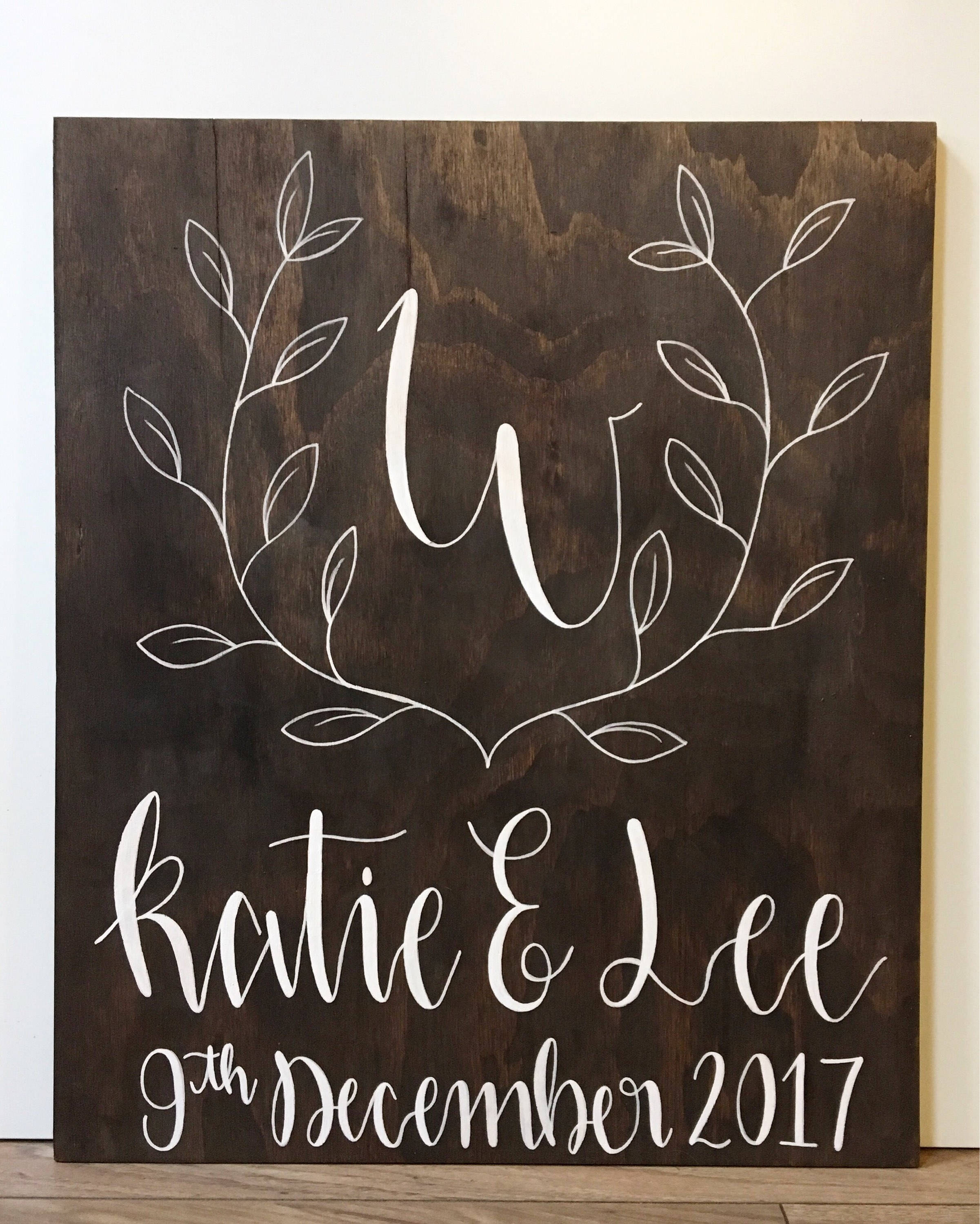 Rustic Foliage Wedding Welcome Sign