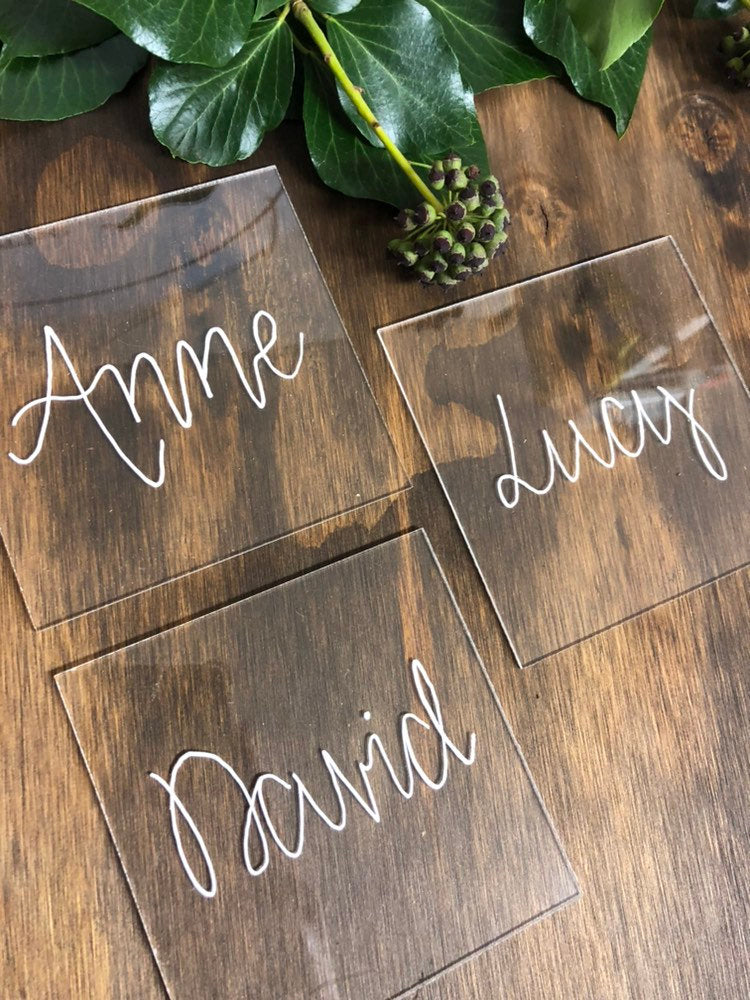 Perspex Acrylic Wedding Place Names