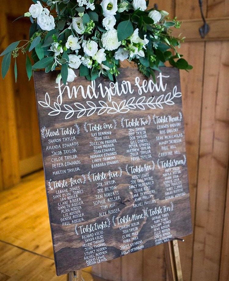 Rustic Wooden Wedding Seating / Table Plan