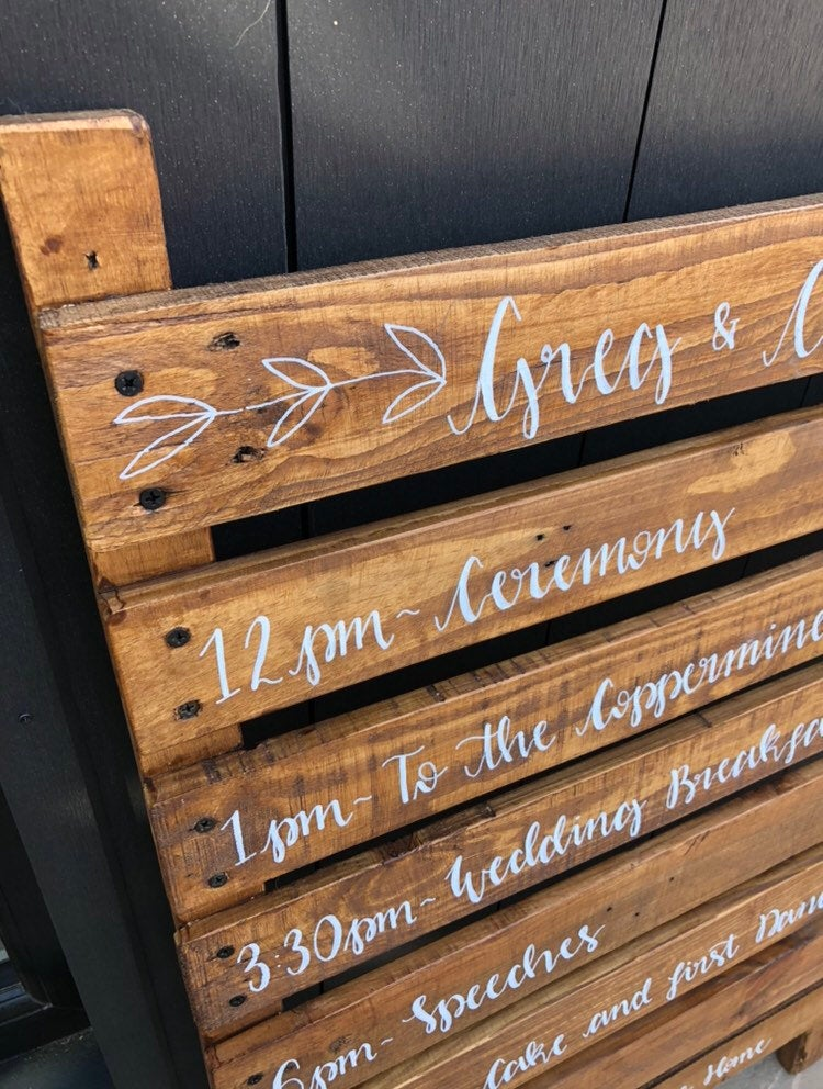 Bespoke Rustic Wooden Pallet Order Of The Day Sign