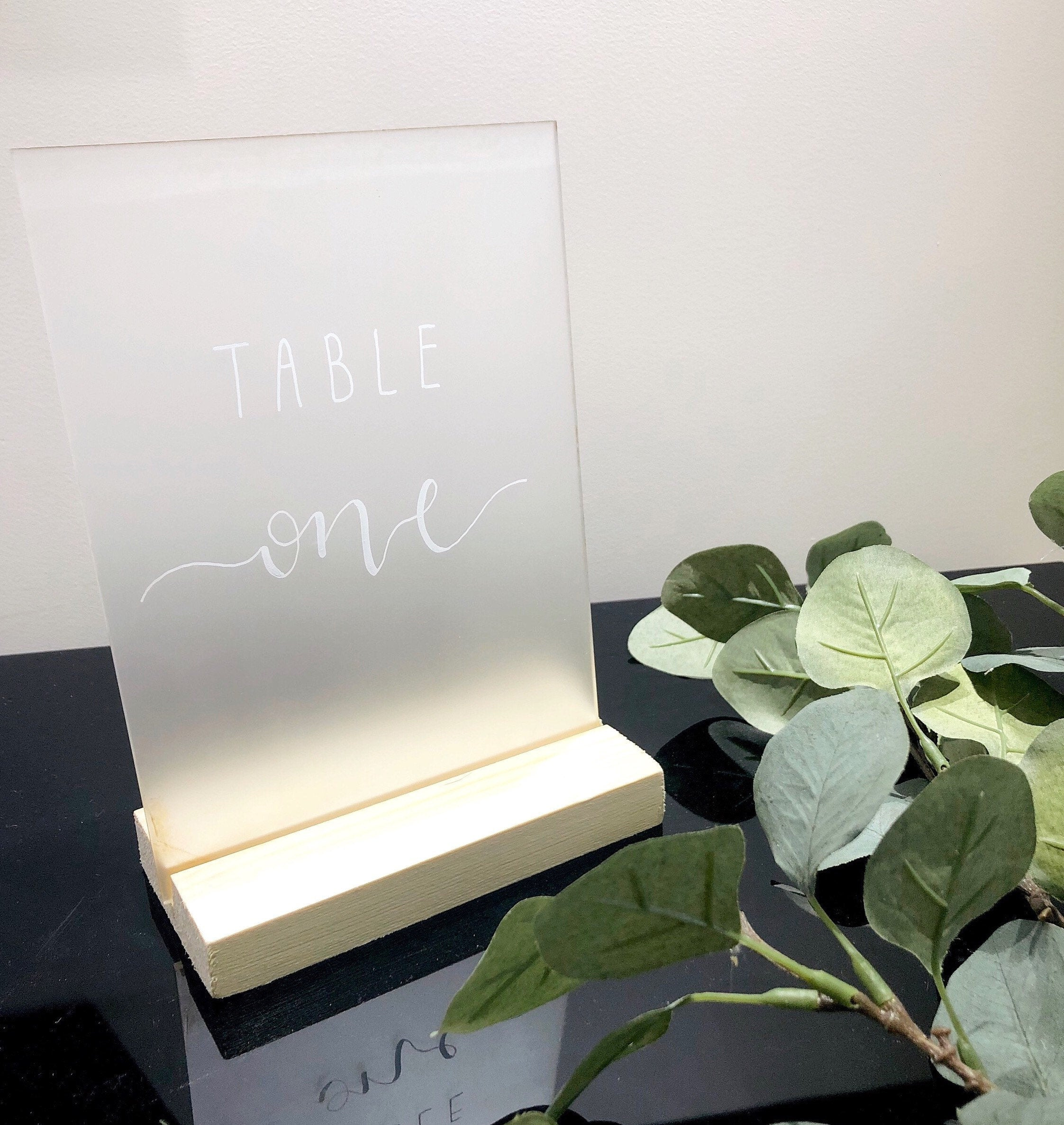Wooden Stands For Table Names