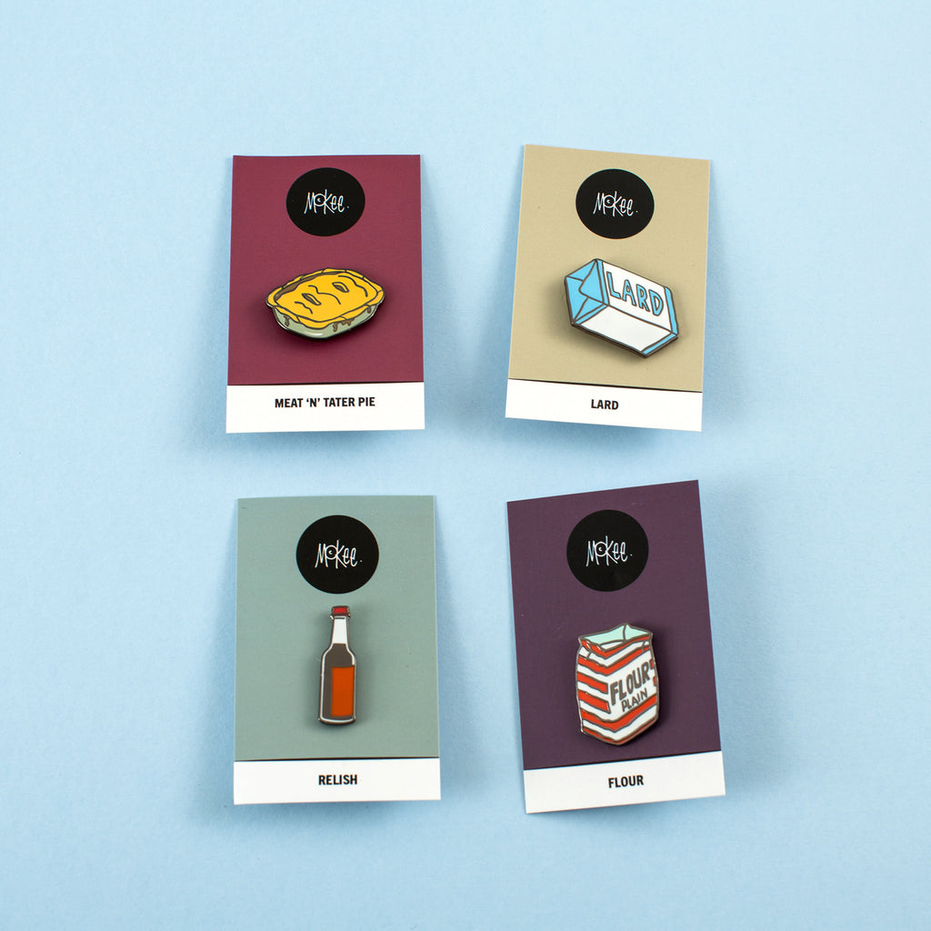 Pie Making Pin Badges
