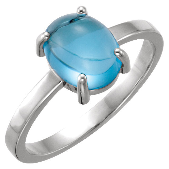 Ring > Cabochon > Topaz > Blue > Swiss.*Multiple Stone and Metal options avaiable*