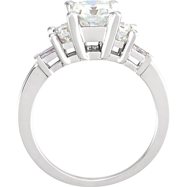 Ring > Engagement > Diamond > CTW > 1/Moissanite & 1 > Created