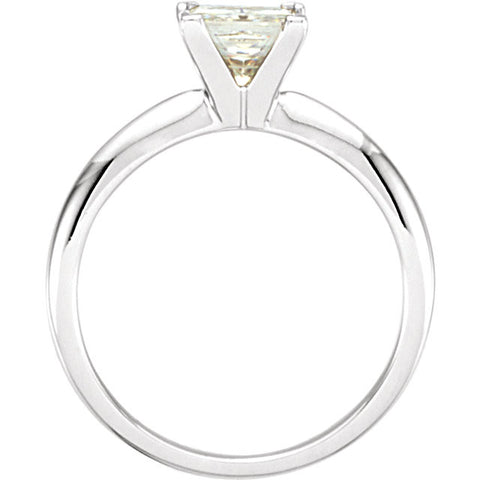 Solitaire > Moissanite > Created > Princess > 7mm