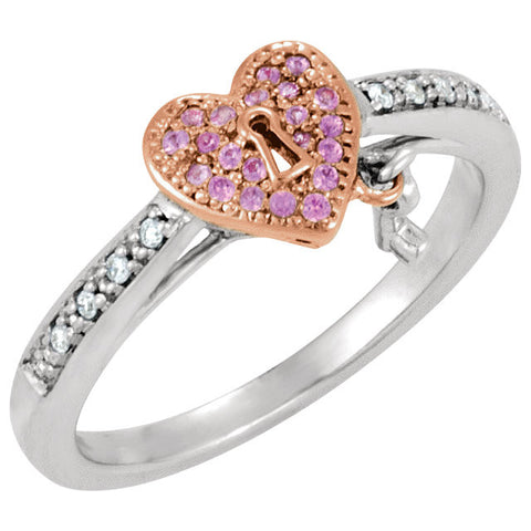 Ring > Diamond > CTW > .Silver & 14kt > Pink > Plated > Rose > 14kt > &