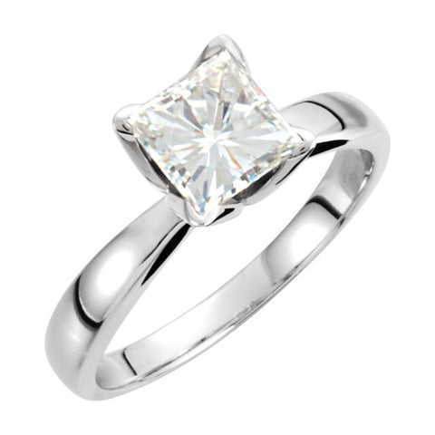 Solitaire > Princess > Moissanite > Created > 5.5mm