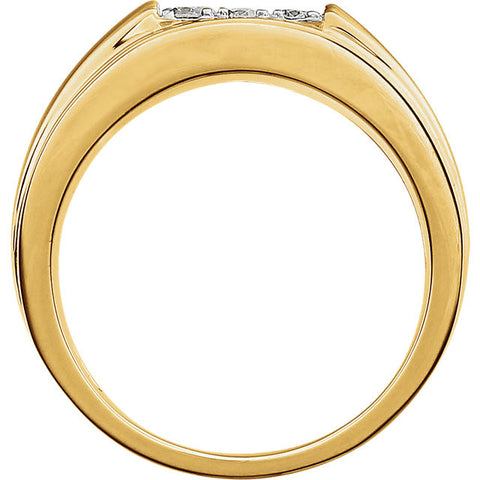 Ring > Men's > Diamond > 1/2 CTW > Two-Tone > 14kt