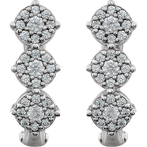 Earrings > 3-Stone > Diamond > 1/2 CTW