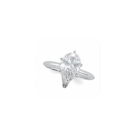 Zirconia > Cubic > 7X5mm > with > Solitaire > Engagement > Diamond