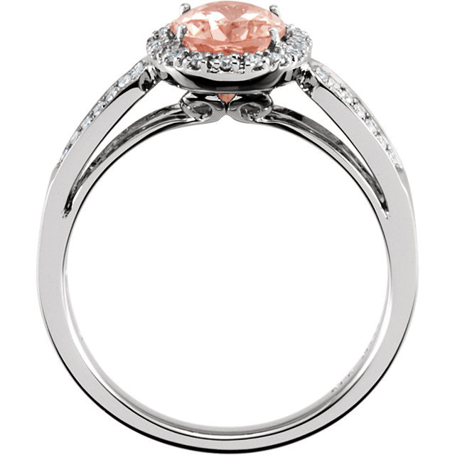 Ring > Diamond > CTW > 1/Morganite & 1.*Multiple Diamond Cuts and Weights available*